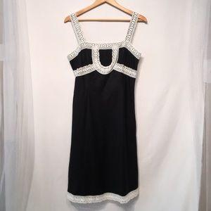 Loft Size 8 100% Linen Dress Like New Beautiful!
